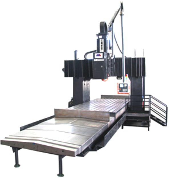 2580数控龙门铣床为工作台移动