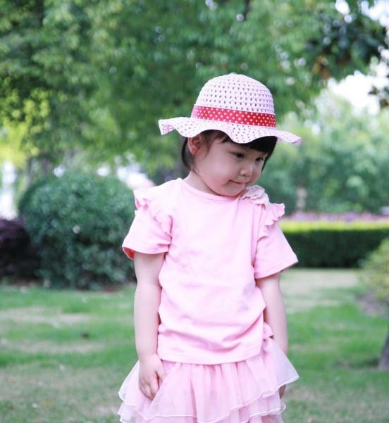 Buy 2011夏季新品超好全棉蕾丝花边公主范短袖儿童T恤女童