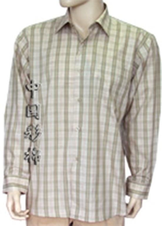 男式长袖衬衣