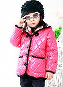 购买 韩版童装 超暖和对立口袋 舒适罗纹边连帽棉衣A-9823