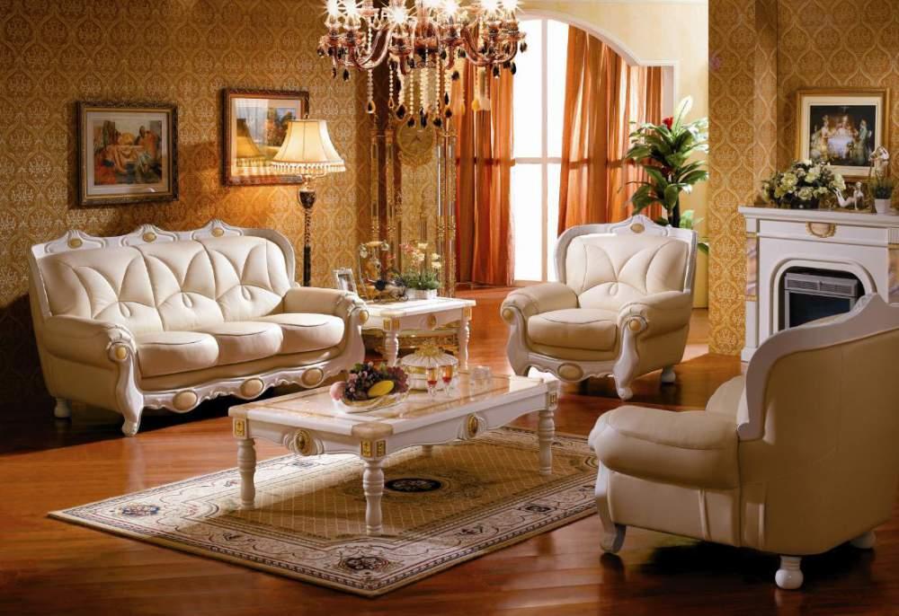 w309s#欧式新古典真皮沙发