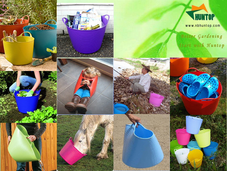 Buy Flexible Garden Bucket Tub Pail HT4301