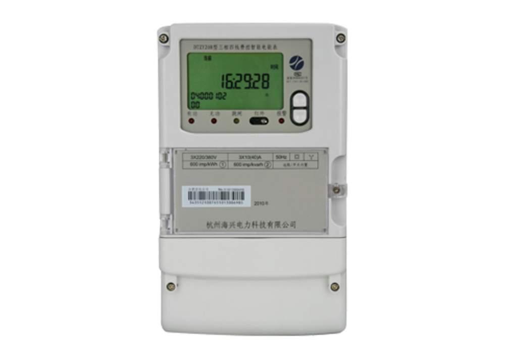 DTS732型三相电子式有功电能表(液晶显示)是为了适应我国三相电能计量要求设计开发的高智能电能表。本仪表采用国际先进的超低功耗大规模集成电路技术及SMT工艺制造的高新技术产品。关键元器件选用国际知名品牌的长寿命器件,提高了产品的可靠性和使用寿命,数据显示采用大屏幕宽温长寿命液晶,停电时常显或进行按显,便于停电抄表,具有较高的准确度和可靠性。 该表同时具有红外和485通讯功能,方便远距离抄表管