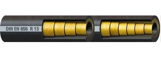 SAE 100 R13---Four or Six Wire Spiral Hydraulic Hose