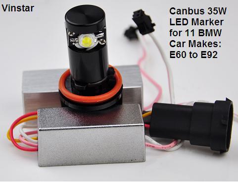 Buy H8 LED marker for BMW E60-E90 Canbus