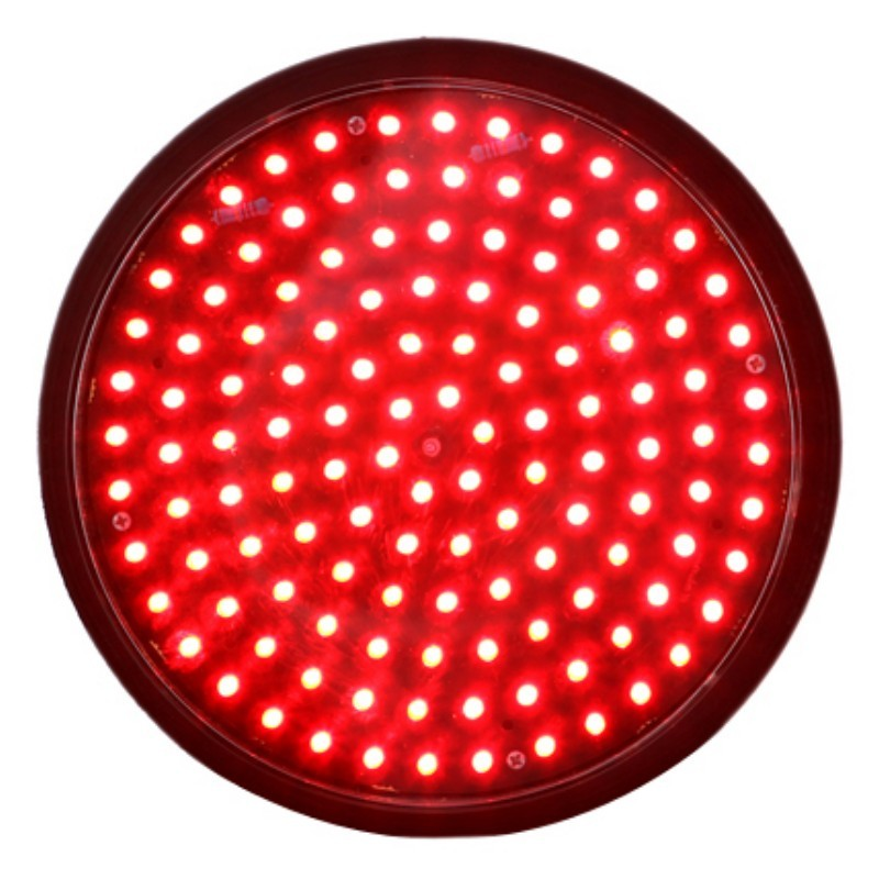 Buy 200mm Red Full Ball Traffic Lamp with Transparent Lens
