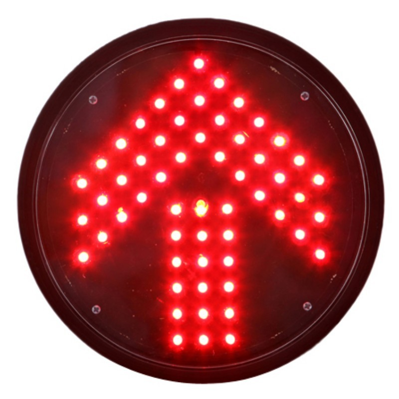 Buy 200mm Red Arrow Traffic Lamp with Transparent Lens