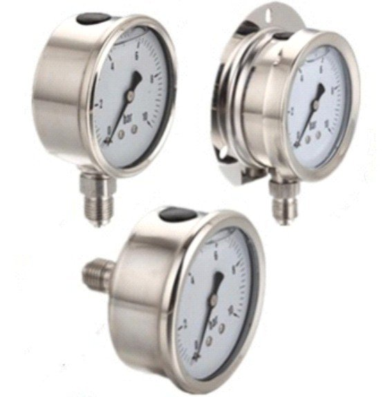 All Stainless Steel & Liquid Filled Pressure Gauge