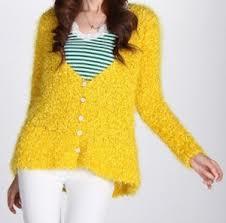 购买 Lady Knitted Cardigan Sweater Feather Yarn Fashion Garment (ML1043)
