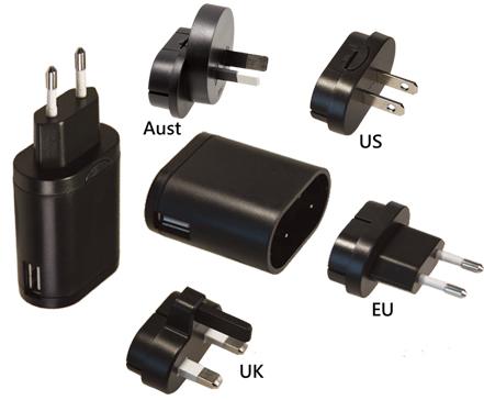 购买 Compact G-series with USB inlet switching adaptors with Interchangeable AC plugs (up to 7.5W)