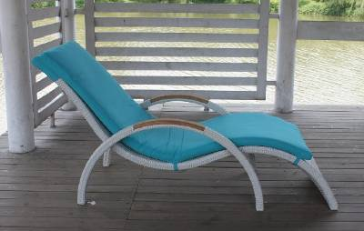 Buy Outdoor furniture--rattan chaise lounger