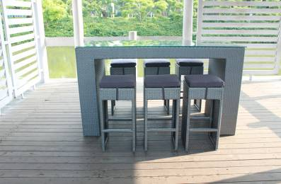 Buy Rattan furniture/outdoor furniture--bar counter/bar chair