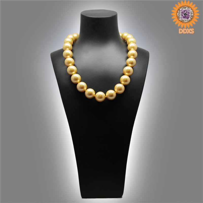 "Wholesale 4-20mm 16""south sea shell pearl necklace"