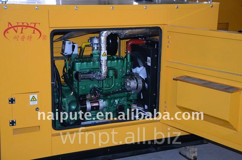 10kW methane gas generator set with silent canopy optional