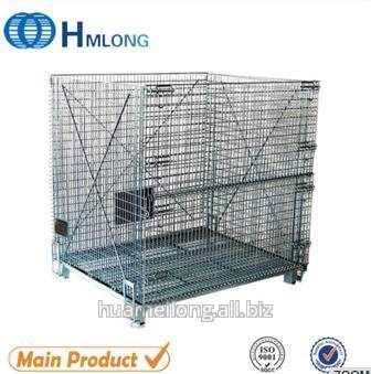 Buy W-10 Warehouse foldable galvanized wire mesh container