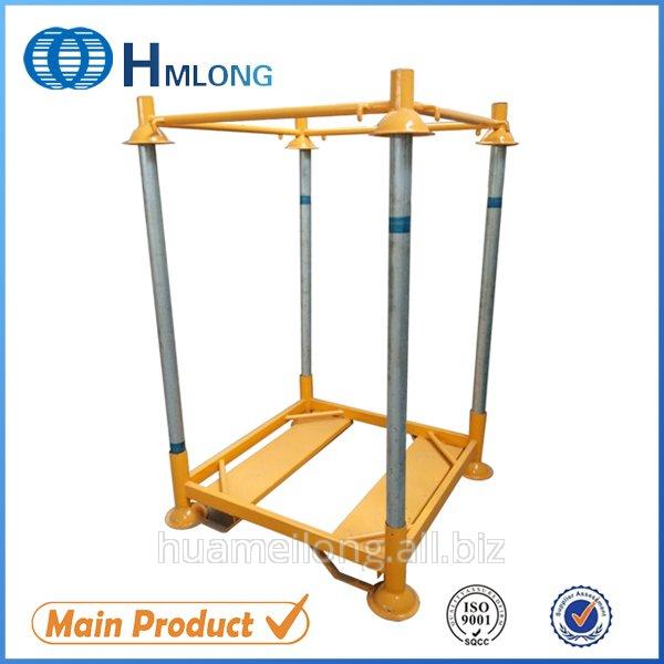 Buy M6 Warehouse stack foldable steel post pallet for big bag PET preform