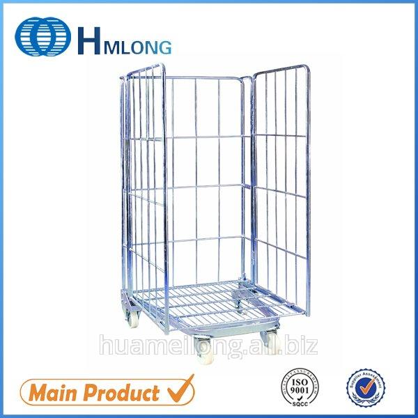 Купить BY-08 Ролл контейнер складское оборудование тележка сетчатый металлический для супермаркета для склада перевозка товара