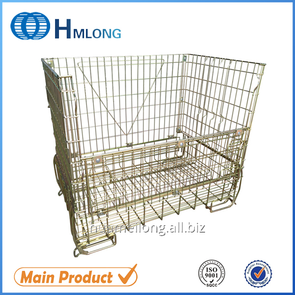 Buy F-16 Folded mesh galvanized metal containers for Wine storage