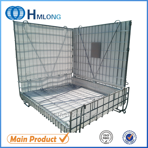 Buy F28 PET Preform Warehouse steel pallet wire mesh container
