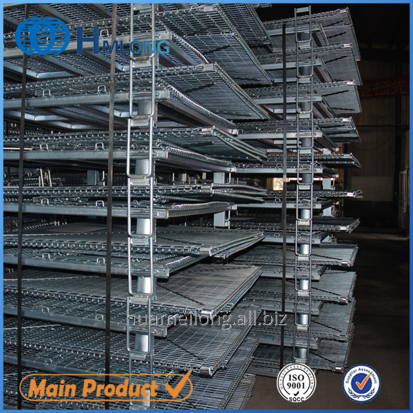 Buy W-10 Stacking storage wire mesh foldable cage pallets