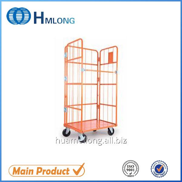 شراء JP-1 Galvanized foldable wire mesh steel roll container