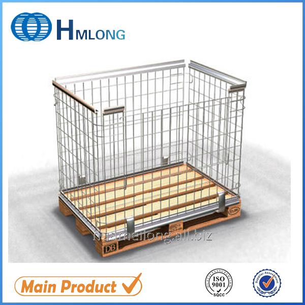 Comprar Pallets de jaula metálica apilable de almacén de calidad alta de NF-1