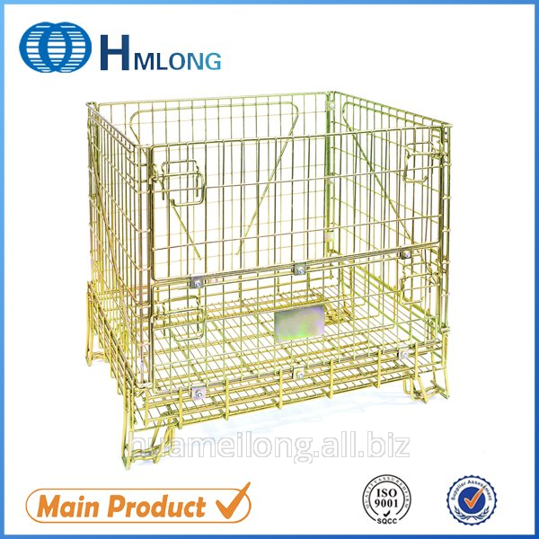 Buy F-1 Warehouse storage steel mesh cage for wine industry