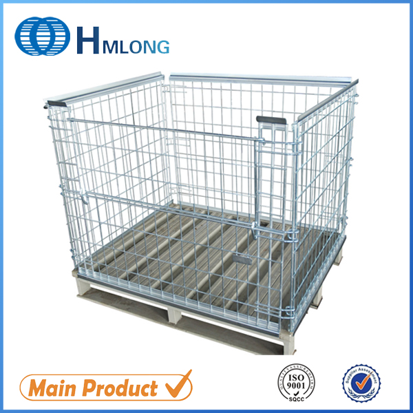 Buy NF-1 Warehouse welded folding wire mesh pallet cage