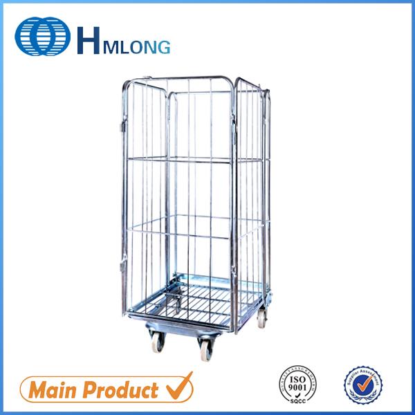 Kup teď BY-09 Supermarket wire steel storage roll cage pallet
