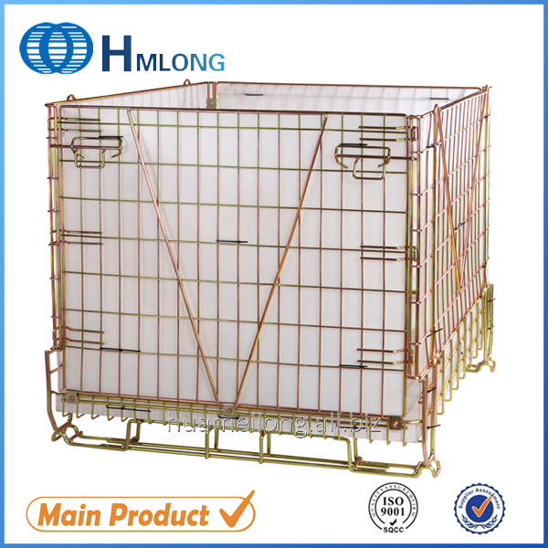 Kup teď F-22 Warehouse foldable galvanized wire mesh container pet preform