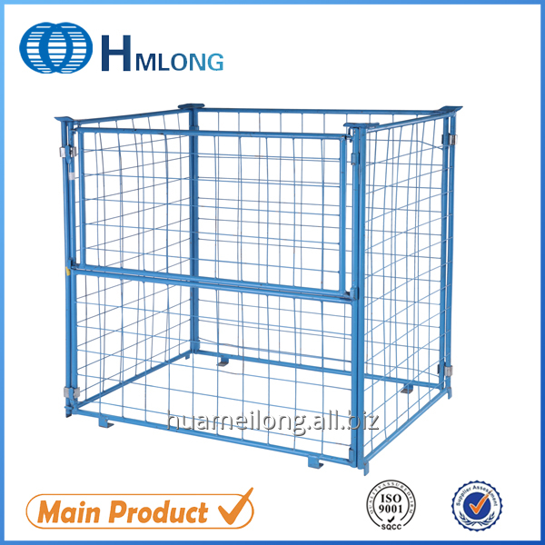 Buy QT-9 Euro warehouse storage wire mesh pallet cage