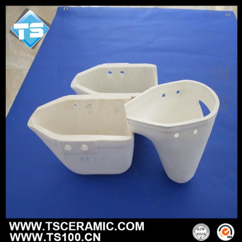 购买 Customized Aluminum Titanate Ceramic Ladle for Conveying Molten Aluminum