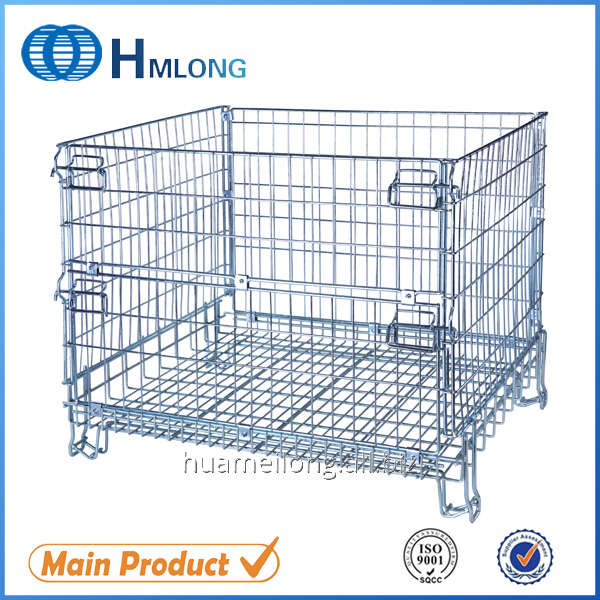 F-17 Galvanized folded mesh steel storage container