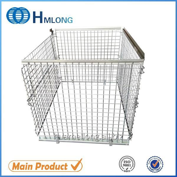 Buy NF-1 Supermarket stackable wire mesh pallet cage