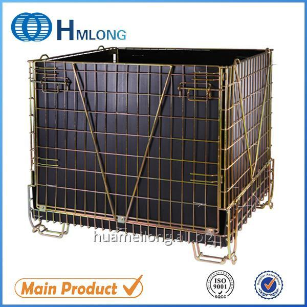 F-28 Galvanized wire mesh folding stacking cage PET Preform