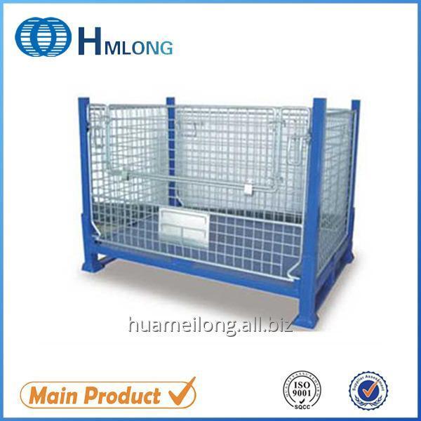 Buy BEM Heavy duty warehouse wire mesh pallet storage box