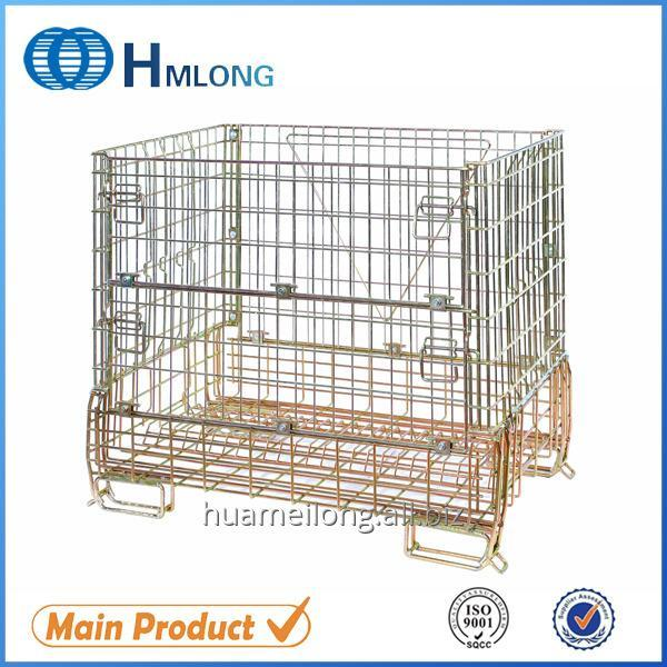 Buy F-16 Metal storage wire mesh galvanized stackable cage Wine glass bottle