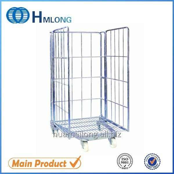 Buy BY-08 Insulated welded steel storage mesh roll container
