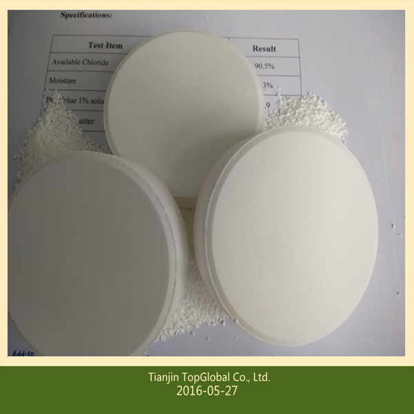 购买 Trichloroisocyanuric acid tcca 90% chlorine tablet