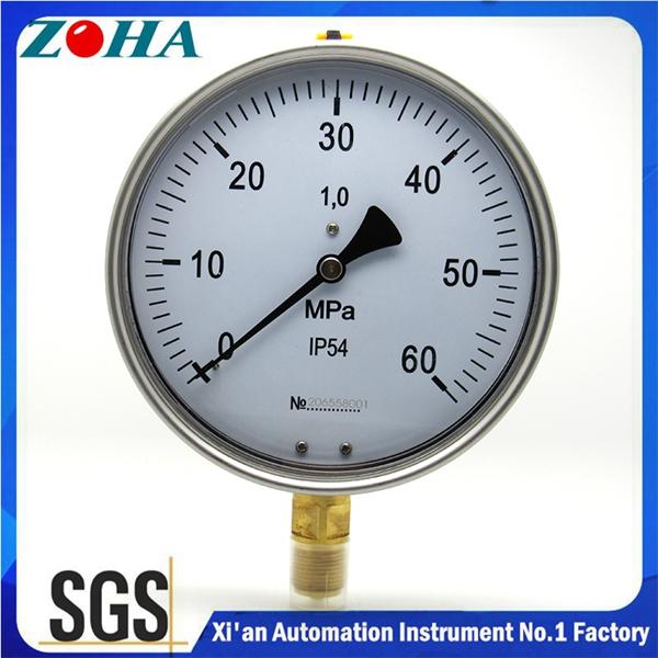 购买 All stainless steel pressure gauge