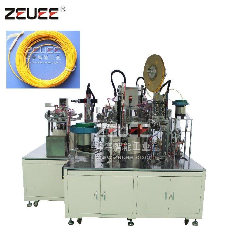 Buy LC/SC optical fiber components electric connector terminal automatic assembly machine