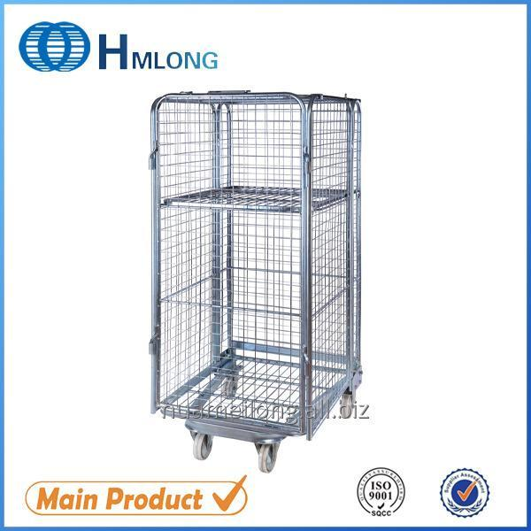 شراء BY-10 4 sided Galvanized wire mesh nested roll container