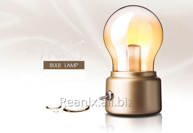 BULB LAMP with highlight LED and rechargeable battery inside 5v 500mA