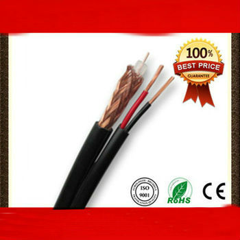 Buy Professional Siamese 75ohm RG59 Power cable coaxial cable