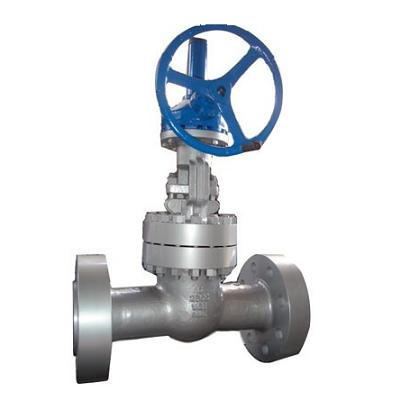 High pressure stainless steel and cast steel power plant gate valve