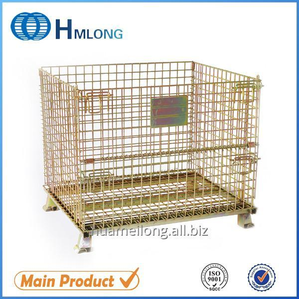 Buy W-1 Foldable galvanized metal security wire mesh storage cage