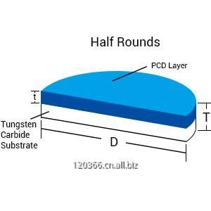 Buy Half rounds pcd cutting tool blanks