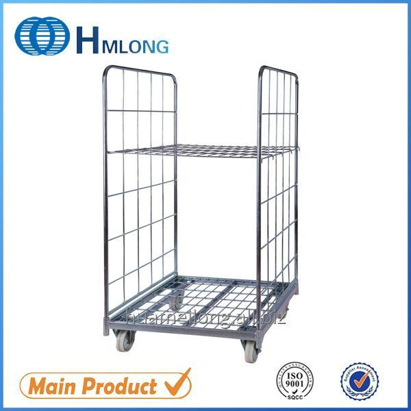 Купити BY-07 2 sides Transportation nestable wire rolling metal storage cage
