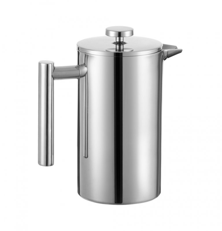 Steel Double Wall Coffee French Press and Tea Maker