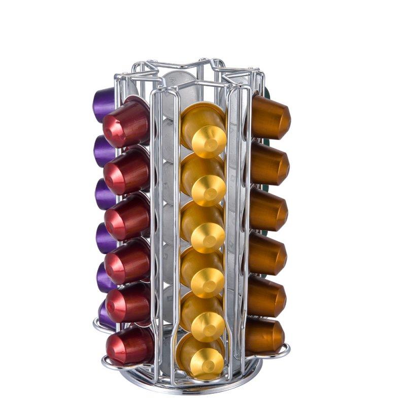 购买  Metal Rotative Nespresso Coffee Pod Holder for 36 Nespresso Pods